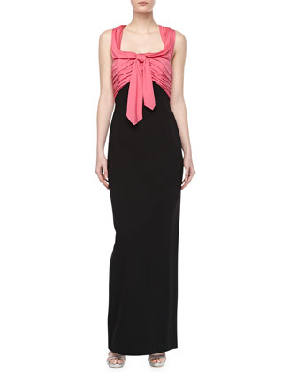 Bicolor Satin Top Cocktail Dress
