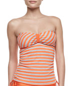Miami Striped Bandini Swim Top