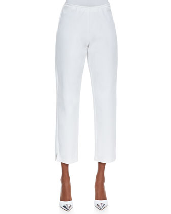 Organic Stretch Twill Slim Ankle Pants, White