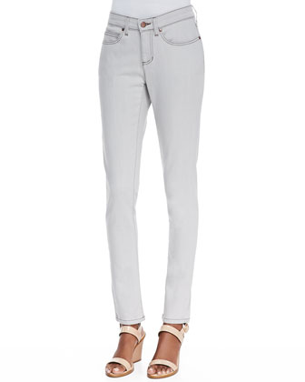 Organic Soft Stretch Skinny Jeans, Sunbleached Gray, Petite