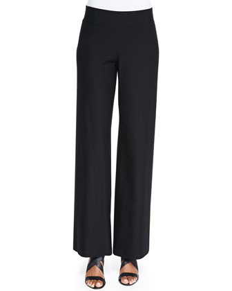 Modern Crepe Wide-Leg Pants