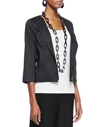 Polished Ramie A-Line Jacket, Women's