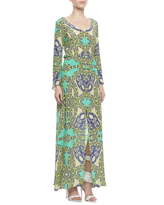 Vale Printed Georgette Maxi Dress