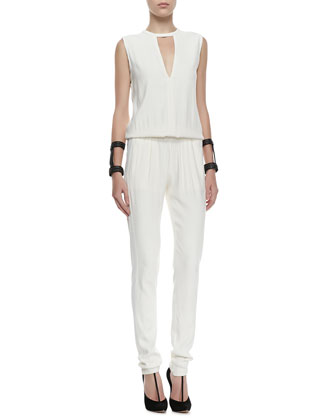 Zina V-Neck Sleeveless Jumpsuit