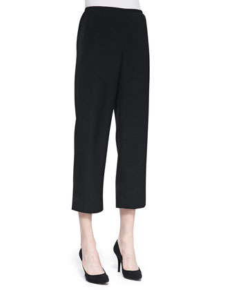 Shantung Easy Capri Pants