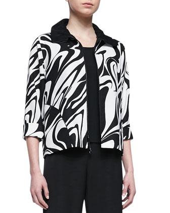 Swirl Zip-Front Jacket, Women's