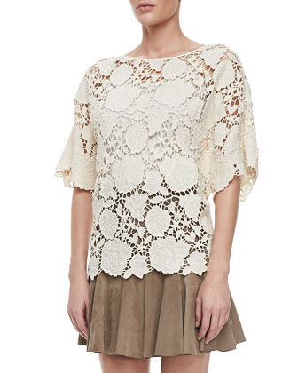 Crochet Lace Boxy Top