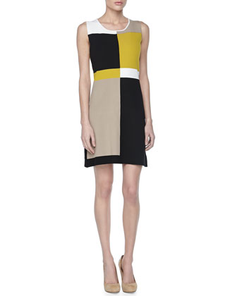 Sleeveless Colorblock Knit Dress