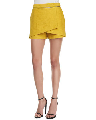 Animal-Jacquard Wrap Skort