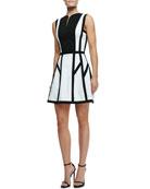 Graphic Spear Sleeveless Dress