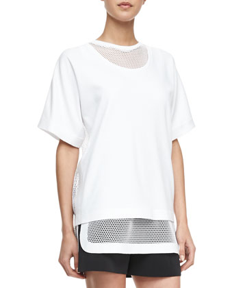 Net-Back Interlock Tee