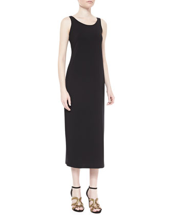 Long Tank Dress, Black, Petite