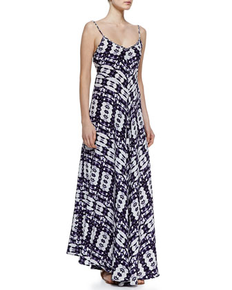 Silk Braided-Strap Maxi Dress