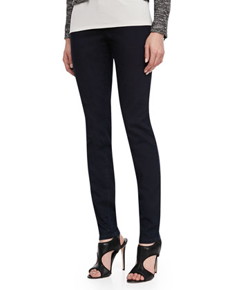 Organic Soft Stretch Skinny Jeans, Black Indigo