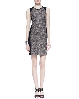 Tweedy Knit Sheath Dress, Petite