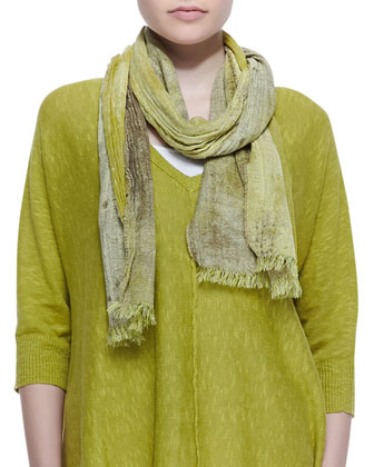 Organic Linen Cotton Top, Slim Tank & Oxidized Jacquard Scarf