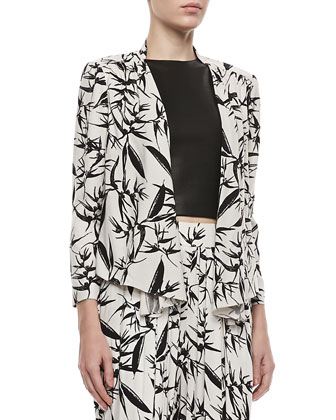 Vanna Printed Open Jacket