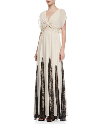 Ginevia Lace-Inset Maxi Dress