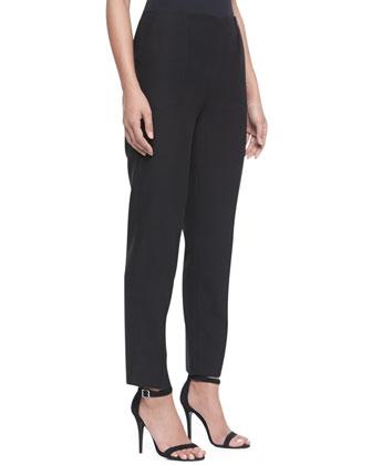 Cropped Pique Pants