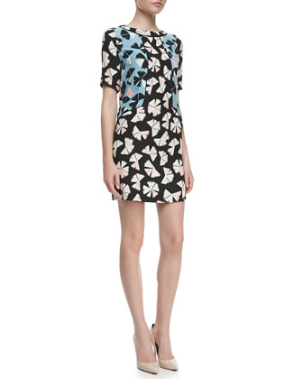 Printed Georgette Shift Dress