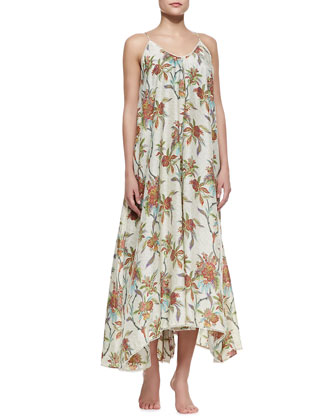 Keeper Scarf-Hem Maxi Coverup Dress