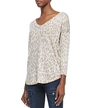 Chyanne Leopard-Print Knit Sweater