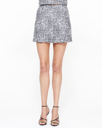 Tabby Printed Sateen Skirt