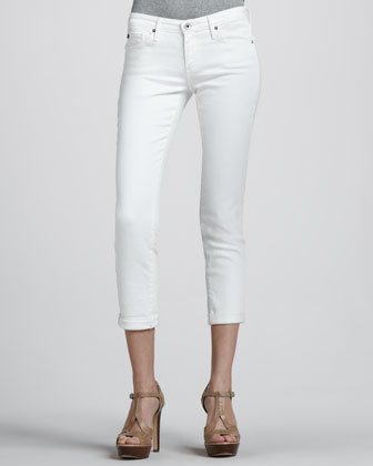 Stilt Roll Up Jean, White