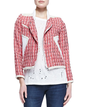 Aubrey Netted Tweed Jacket