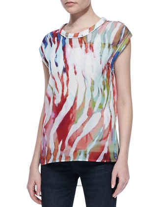 Shayla Sheer Printed Tee