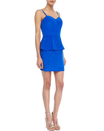 Heartthrob Sleeveless Peplum Dress