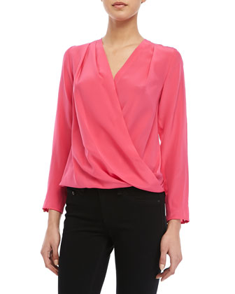 St. Marks 3/4-Sleeve Crossover Top