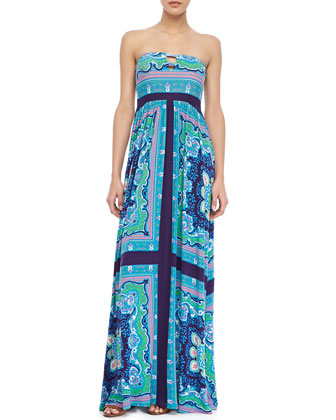 I Love You Printed Maxi Dress