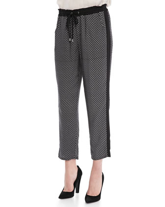 Harbor Geometric-Print Pants