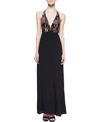 San Pedro Halter Maxi Dress