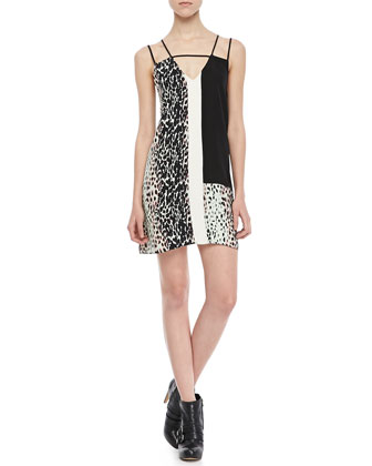 Nelly Animal-Print Combo Dress
