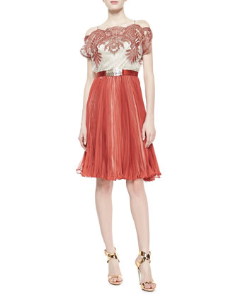 Pippa Chiffon Pleated Dress