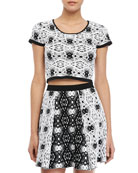 Nina Printed Crop-Top