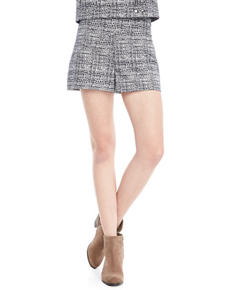 Callie Printed High-Waist Shorts