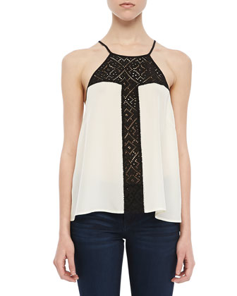 Georgia Lace-Panel Top