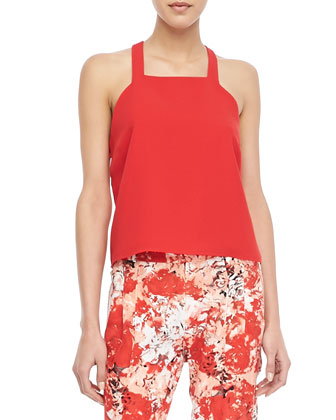 Justina Sleeveless Cutout-Back Tank