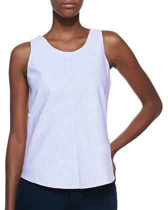 Rookie Perforated Faux-Leather Top