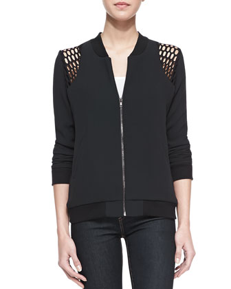 Max Mesh-Shoulder Bomber Jacket