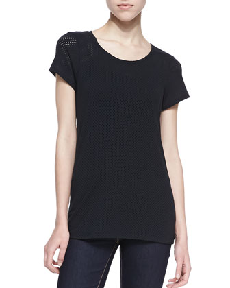 Sia Perforated Jersey Top