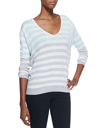 Isla Vista Striped V-Neck Sweater