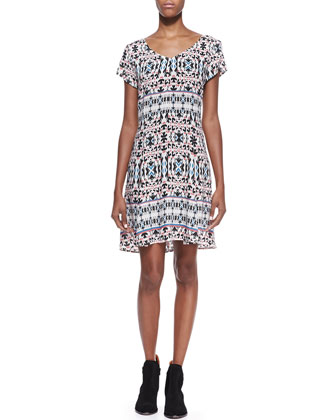 Challis Marrakech Printed Dress