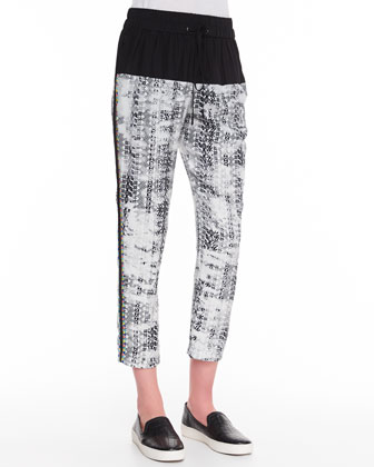 Gabby Printed-Silk Ankle Pants