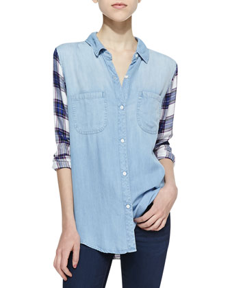 Harper Denim Button-Down Shirt