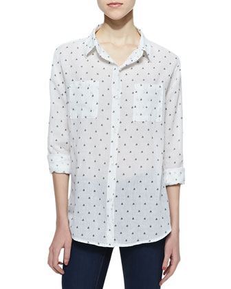 Jesse Sailboat Button-Down Blouse