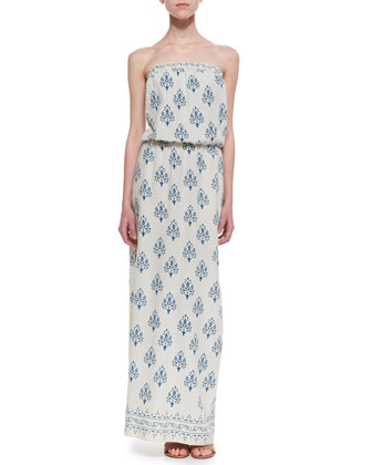 Noile Strapless Printed Maxi Dress